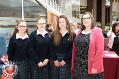 Students Rachel Freeney, 15, Sarah Kavanagh, 16, Zuzanna Gruszecka, 16, with teacher Stephanie Mullane from John the Baptist, Hospital at the Midwest Empowerment and Equality Conference 2019 in University Concert Hall, Limerick on May 1st. Picture: Zoe Conway/ilovelimerick