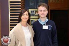 Beverly Hartigan, teacher and Kevin Raggett, 16, from St Anne's, Killaloe, at the Midwest Empowerment and Equality Conference 2019 in University Concert Hall, Limerick on May 1st. Picture: Zoe Conway/ilovelimerick